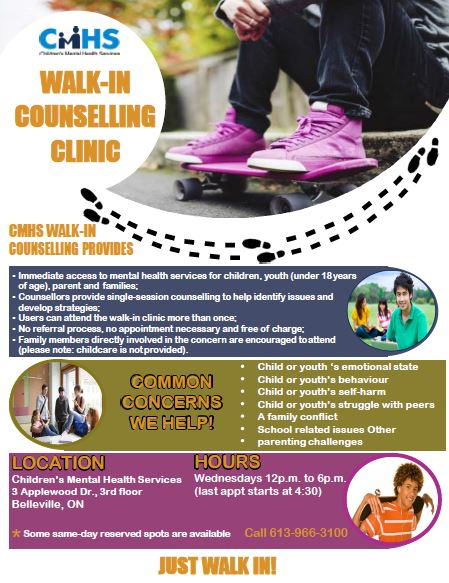 CMHS Walk-In Counselling Clinic
