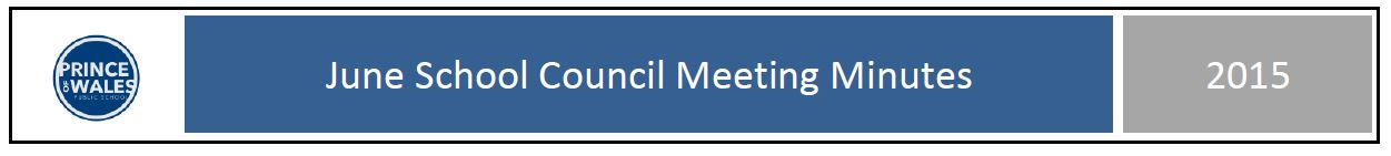 June 2015 School Council meeting minutes