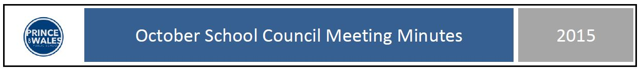 October School Council meeting minutes