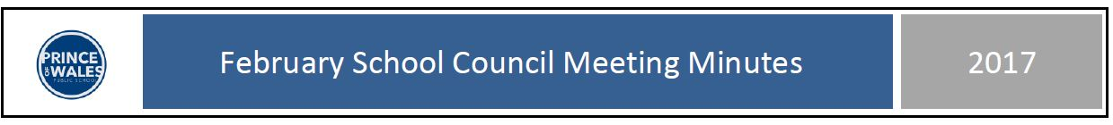 February School Council meeting minutes