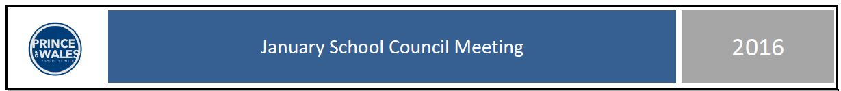 January School Council meeting minutes