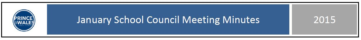 January School Council minutes