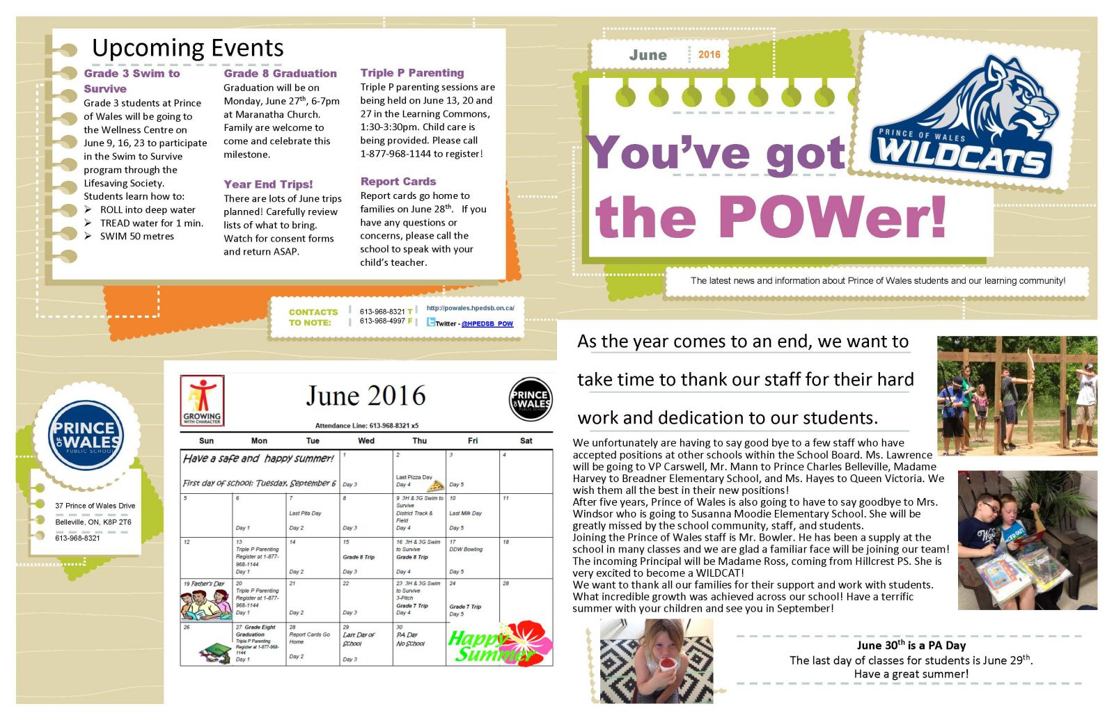 June 2016 Newsletter page 1