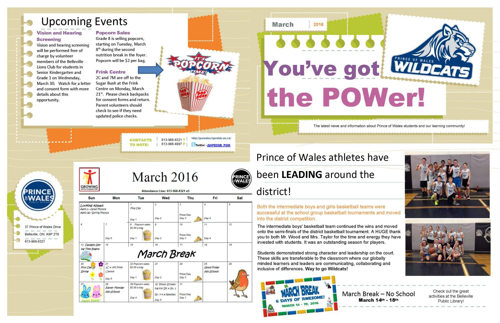 March 2016 newsletter page 1