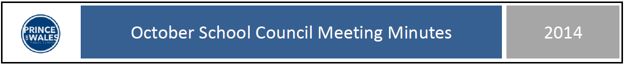 Oct 2014 School Council Minutes