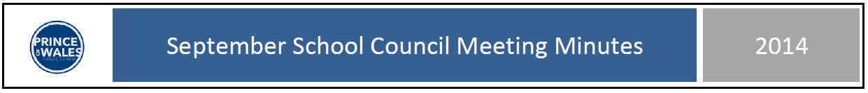 Sept 2014 School Council Minutes