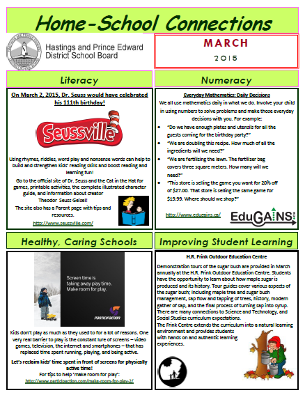 Home-School Connection March 2015