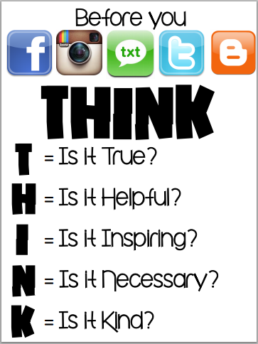 Think Before You Social Media