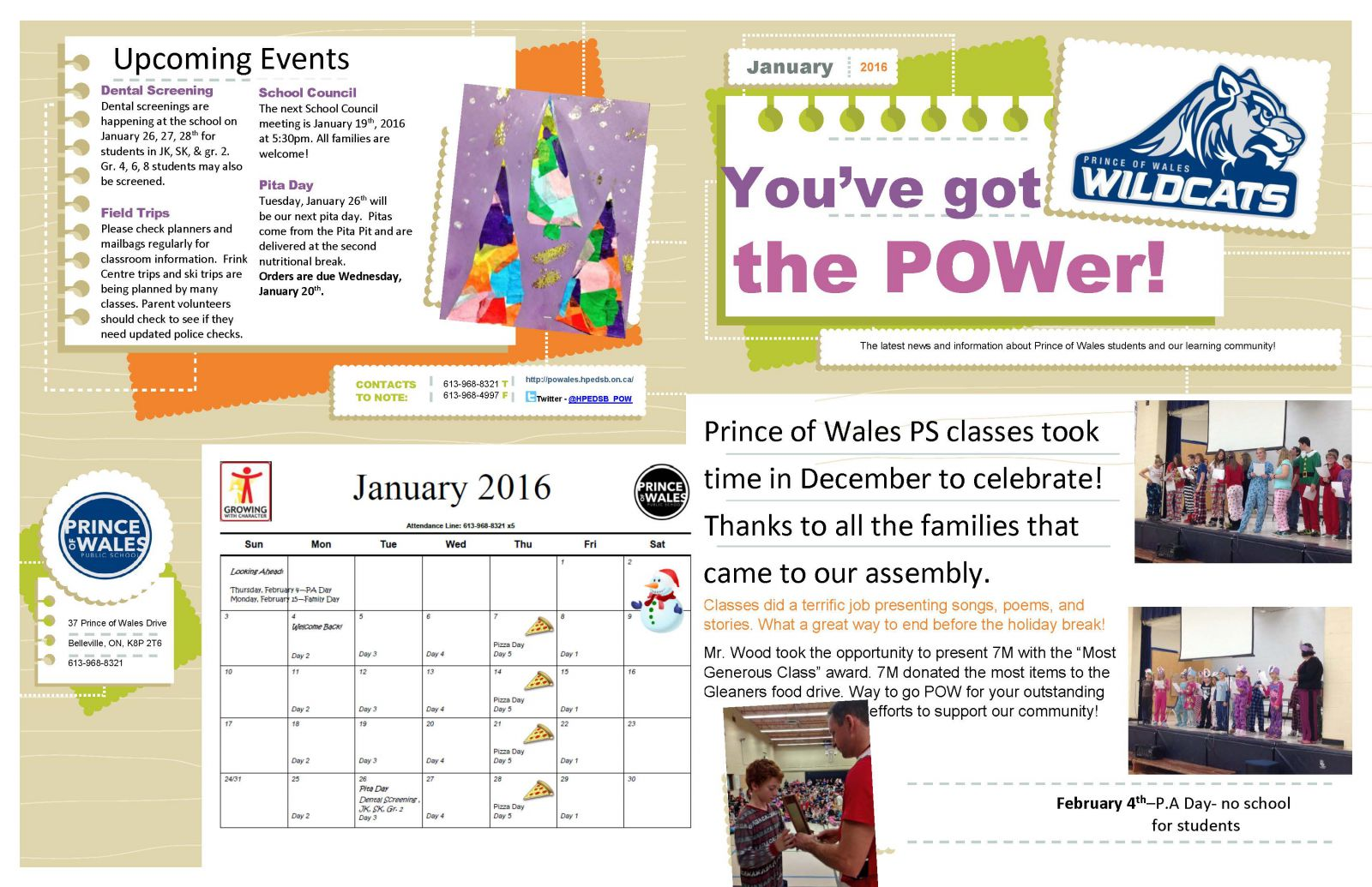 January Newsletter page 1