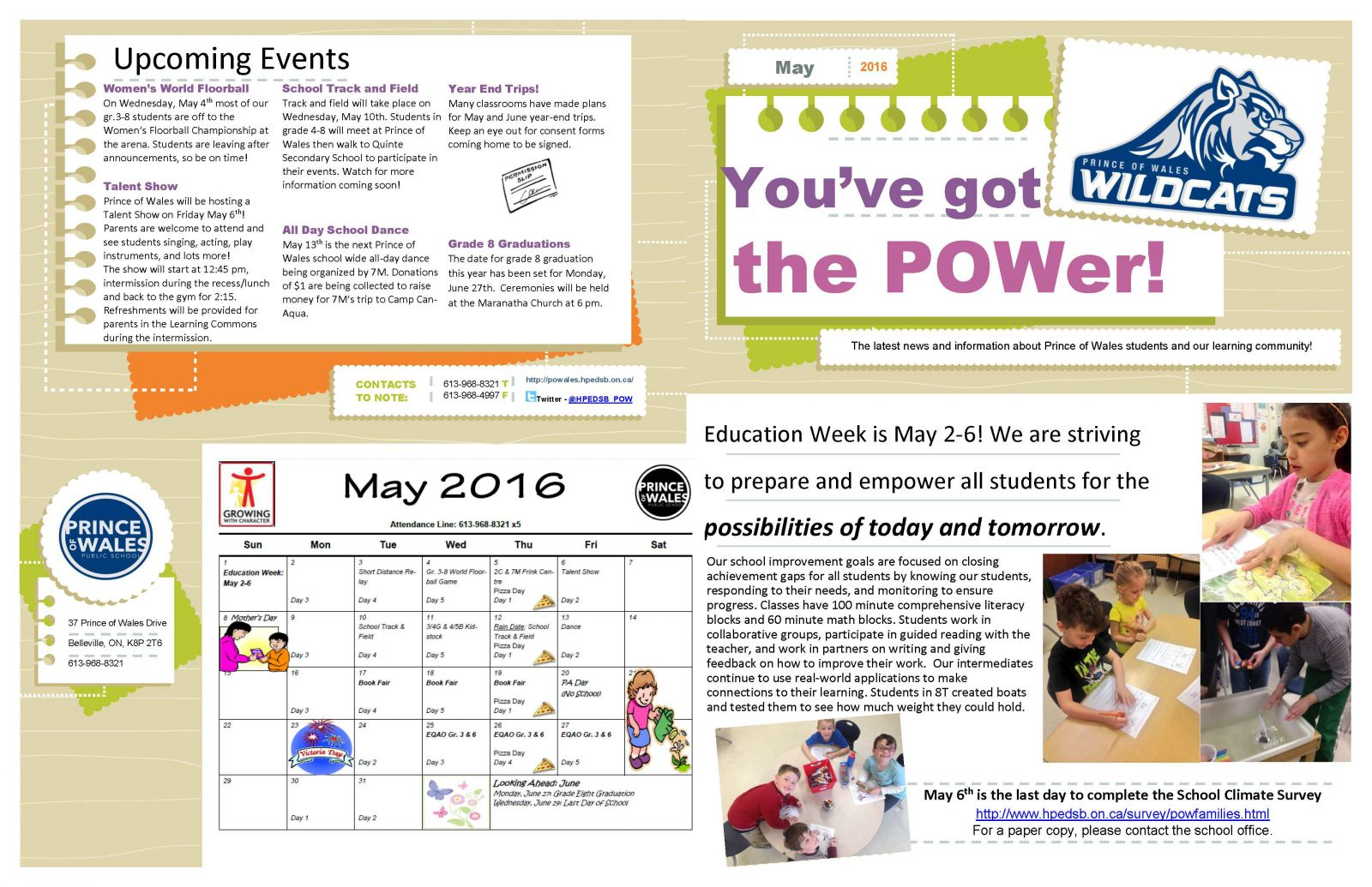 May 2016 Newsletter page 1